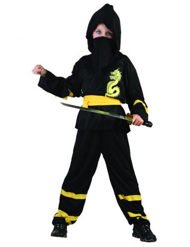 Drachenninja-Kostüm gelb für Jungen