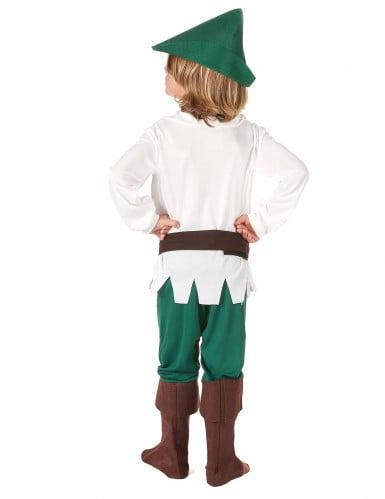 Rebellischer Waldläufer Kinderkostüm für Jungen braun-weiss-grün-2