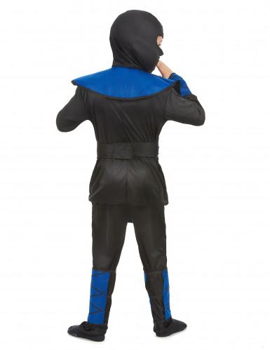 Ninja-Jungen-Kostüm blau-schwarz-goldfarben-2
