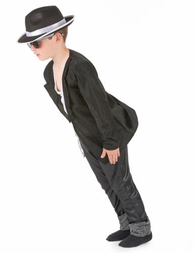 Popstar-Kostüm schwarz für Jungen-1