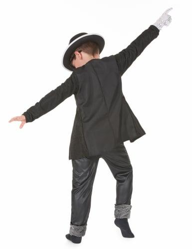 Popstar-Kostüm schwarz für Jungen-2