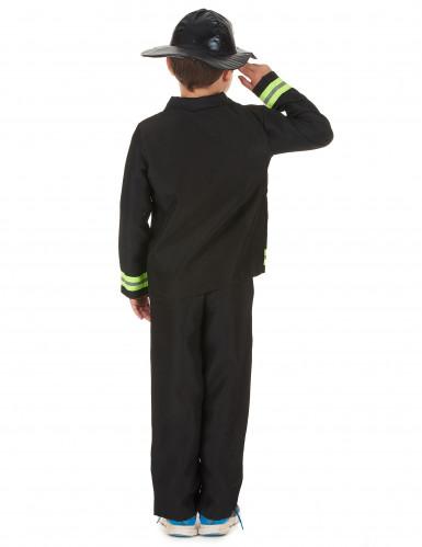 Feuerwehrmann-Kostüm für Jungen Beruf schwarz-gelb-2