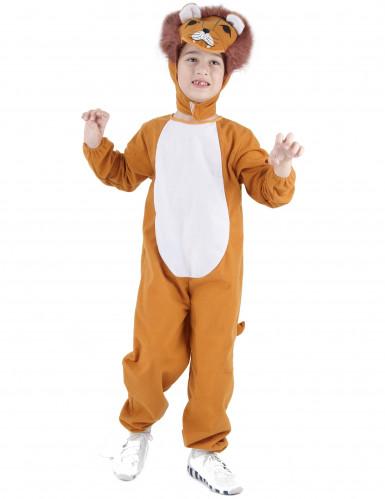 Löwen-Overall für Kinder Tierkostüm braun