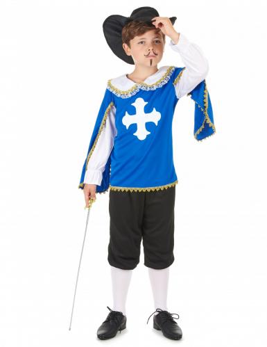 Musketierkostüm blau für Jungen