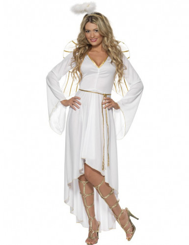 Weihnachtsengel-Kostüm mit Heiligenschein für Damen