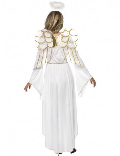 Weihnachtsengel-Kostüm mit Heiligenschein für Damen-1