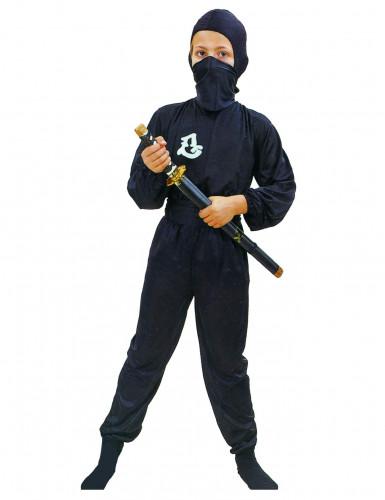 Ninja-Kostüm Kommando schwarz für Jungen