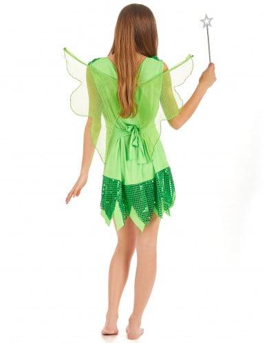 Feen-Kostüm Grün für Damen-2