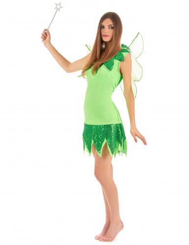 Feen-Kostüm Grün für Damen-1