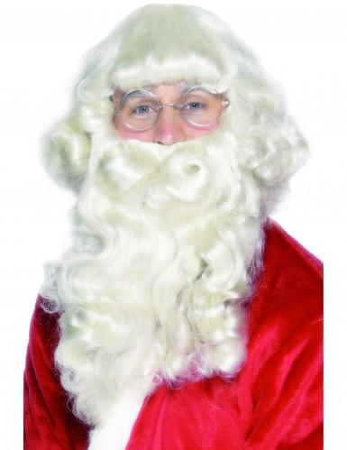 Deluxe Weihnachtsmann-Bart für Erwachsene