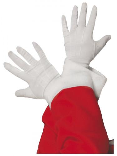 Weiße Weihnachtsmann-Handschuhe