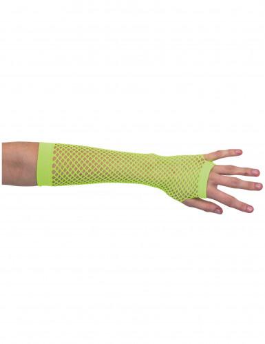 Neongrüne Netzstulpen für Damen