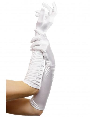 Lange Damen-Handschuhe weiss