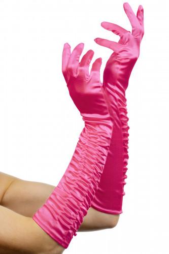 Lange Handschuhe in pink für Damen