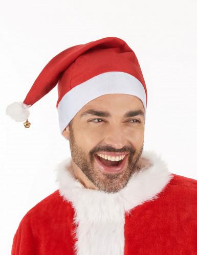 schöne Weihnachtsmann-Mütze für Erwachsene mit Schelle-1
