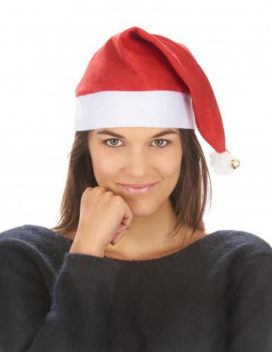 schöne Weihnachtsmann-Mütze für Erwachsene mit Schelle-2