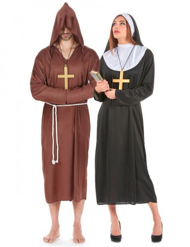 Nonnen-Mönchskostüm für Paare