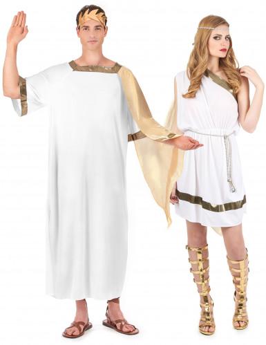 Römerinnen und Römischer Kaiser-Paarkostüm für Erwachsene