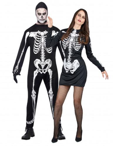 Skelettkostüm Halloween für Paare