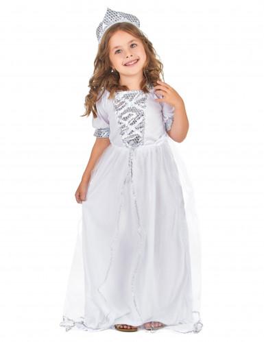 Prinzessinnenkostüm silber für Mädchen