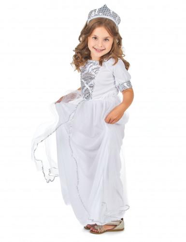 Prinzessinnenkostüm silber für Mädchen-1