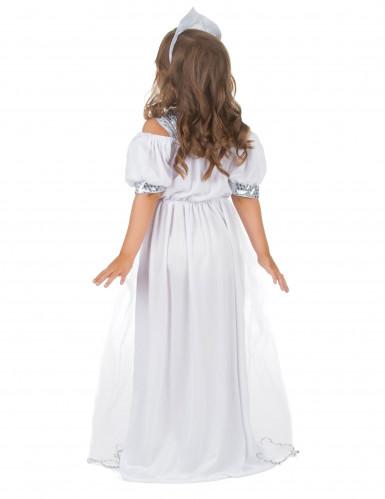 Prinzessinnenkostüm silber für Mädchen-2