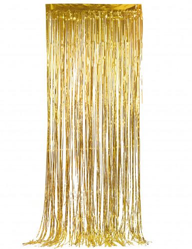 Glänzender Lametta-Vorhang goldfarben