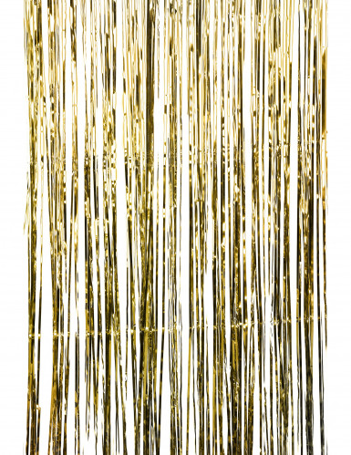 Glänzender Lametta-Vorhang goldfarben-1