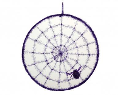 Lila Spinnennetz