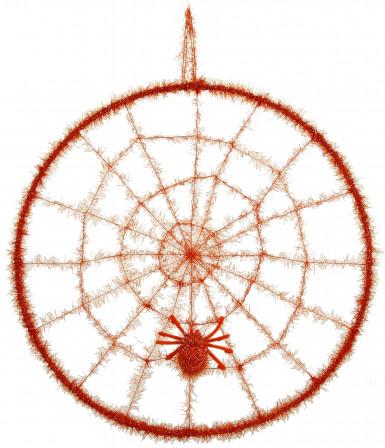 Oranges Spinnennetz