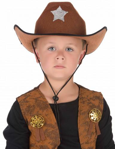 Sheriffhut braun für Erwachsene-1