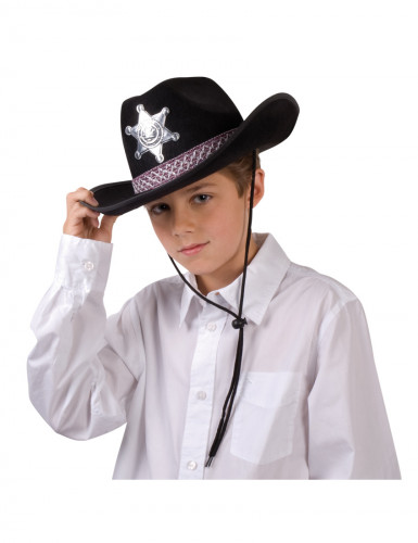 Sheriffhut schwarz für Erwachsene