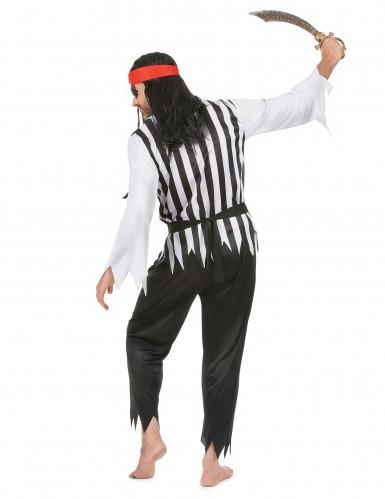 Piraten-Karnevalskostüm für Herren schwarz-weiss-rot-2