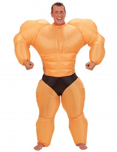 Bodybuilder-Erwachsenenkostüm aufblasbar