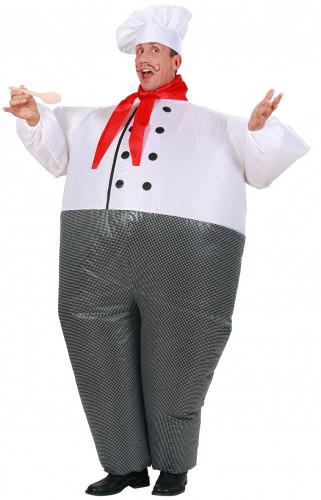 Aufblasbares Koch-Kostüm für Erwachsene