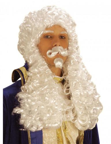 Weiße François 1-Perücke für Herren