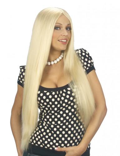 Blonde Perücke mit langen Haaren für Damen