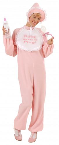 Rosa Baby-Kostüm für Damen