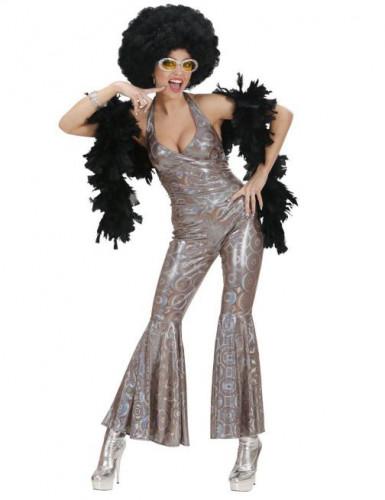 Silber Disco-Kostüm für Damen