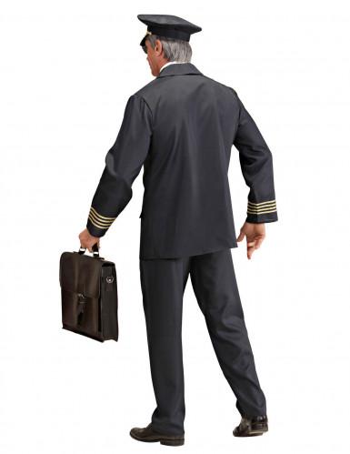Piloten-Kostüm für Herren schwarz-goldfarben-1