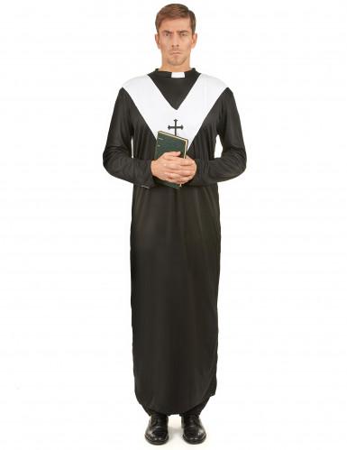 Priesterkostüm für Herren schwarz-weiss