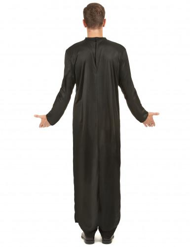 Priesterkostüm für Herren schwarz-weiss-2