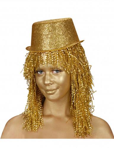 Goldfarbene Make-up Creme