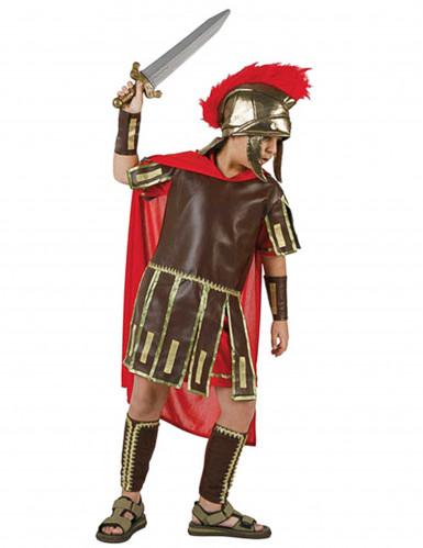Römer-Soldatenkostüm für Jungen braun-rot-goldfarben