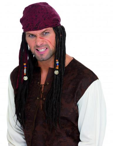 Piratenperücke mit Dreadlocks für Herren