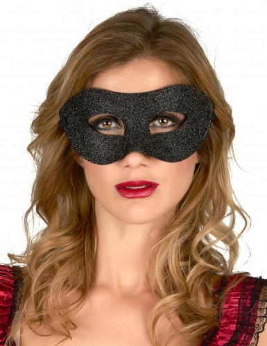 Halbmaske schwarz glänzend