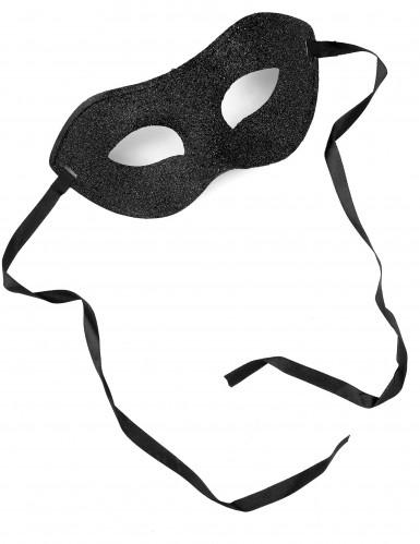 Halbmaske schwarz glänzend-1