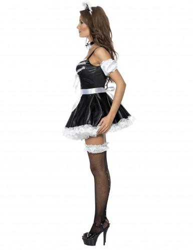Zimmermädchen Damenkostüm sexy weiss-schwarz-2