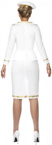 Offizierskostüm weiß für Damen-1