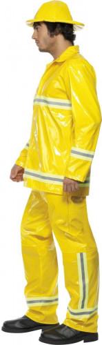 Feuerwehrmann-Kostüm für Herren Uniform gelb-2